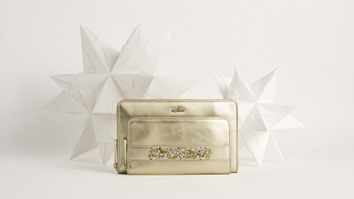 HOGAN亮片金屬皮革手拿包 (聖誕節限定款) $33,600
