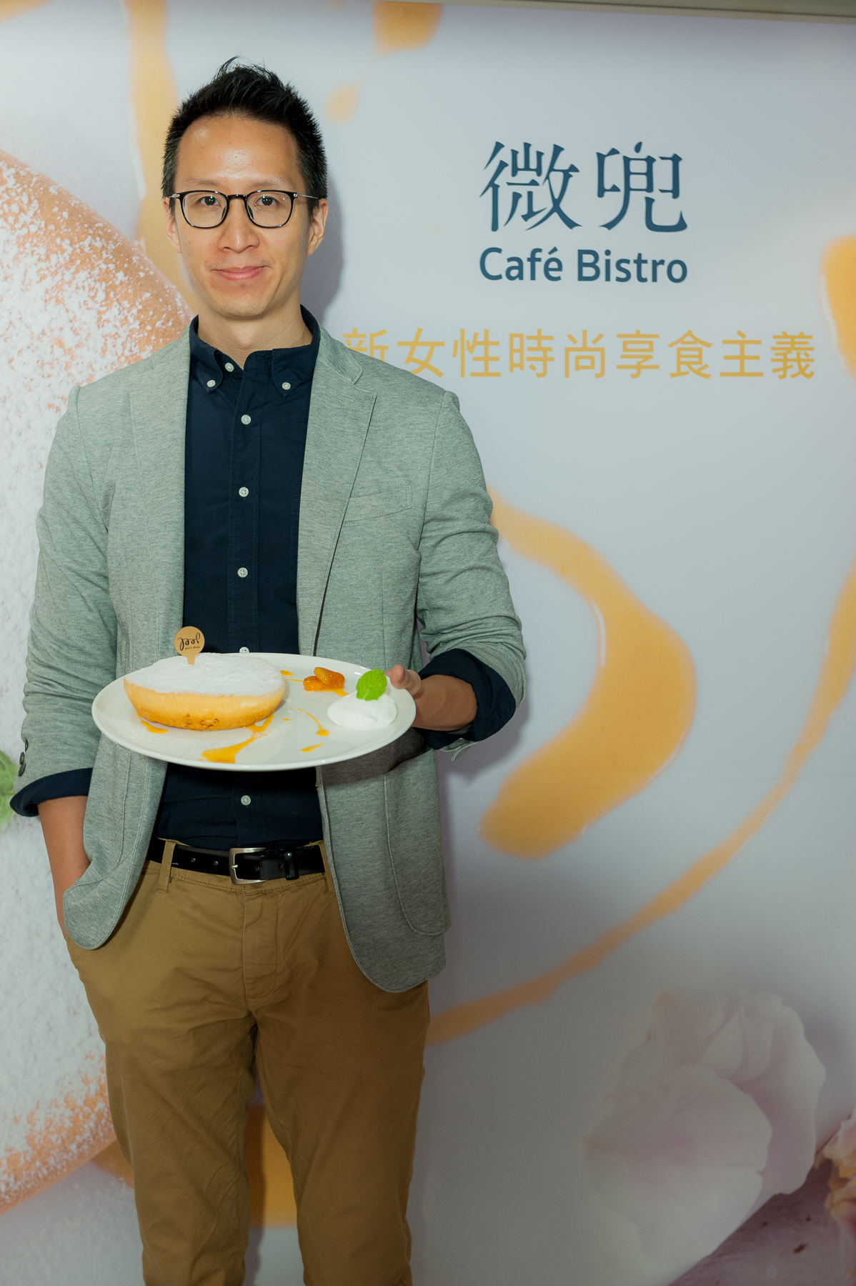 petit doux『微兜Caf Bistro』正式開幕,品牌營運長吳建辰首推瓦帕鬆餅,打造新女性時尚享食主義