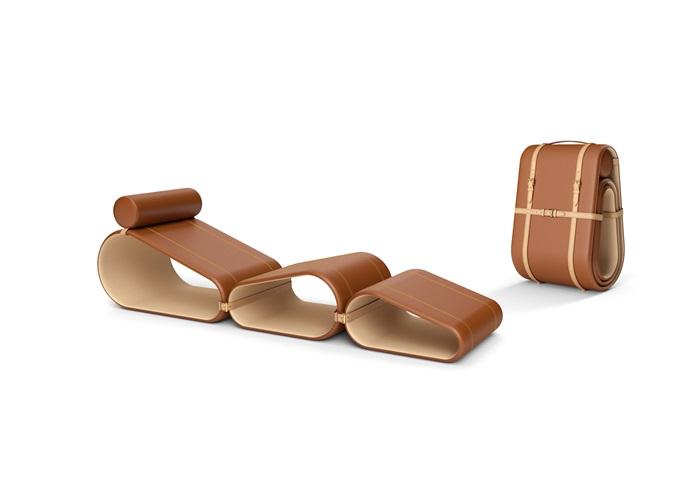 Objets Nomades系列躺椅-經典色