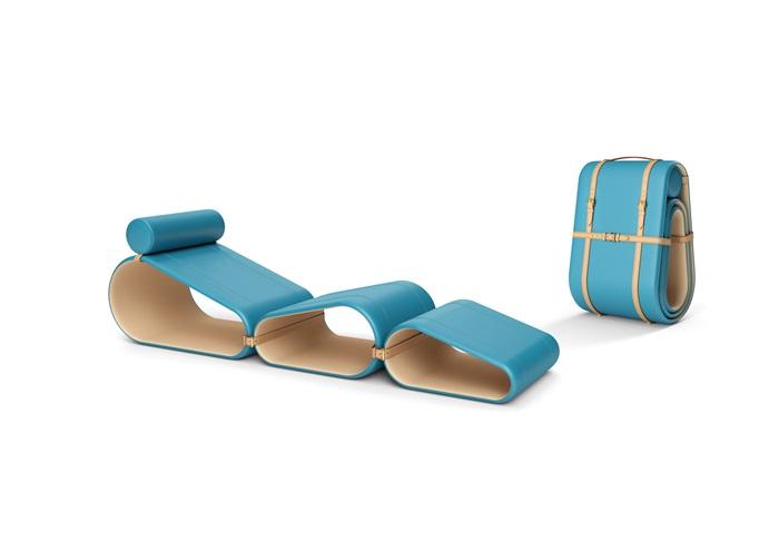 Objets Nomades系列躺椅-邁阿密色