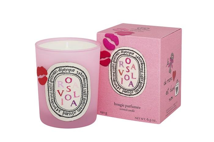 diptyque玫瑰之吻限量香氛蠟燭190g,NT2,600
