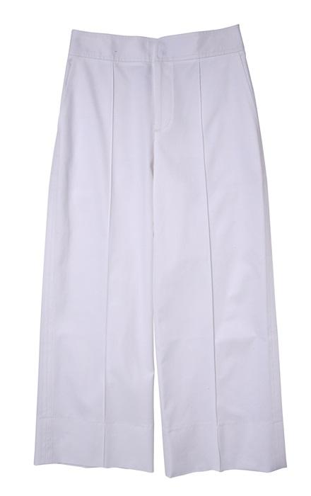 Club Monaco 白色寬版九分褲 $8,900