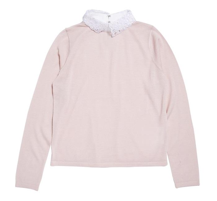Club Monaco 蕾絲領粉紅毛衣 $5,500