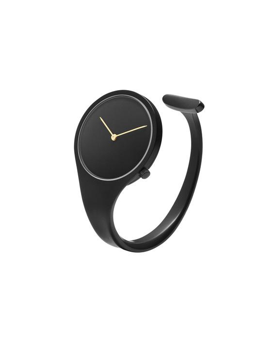 GEORG JENSEN_VIVIANNA朵蘭系列_黑色PVD鍍膜手鐲腕錶