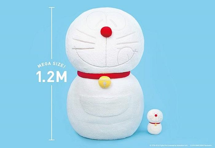 限量10隻!120公分高巨型珍藏版雪の哆啦A夢毛絨公仔