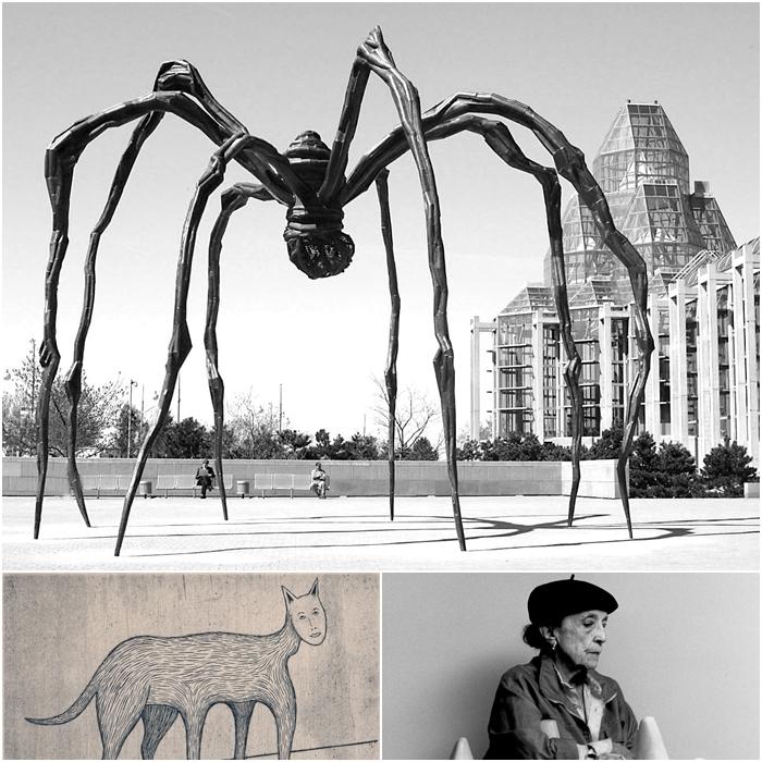我也非常喜歡女雕塑家 Louise Bourgeois,看 Louise Bourgeois做的蜘蛛,真是了不起。但她們從來沒有丟棄過自己的女性特質啊。