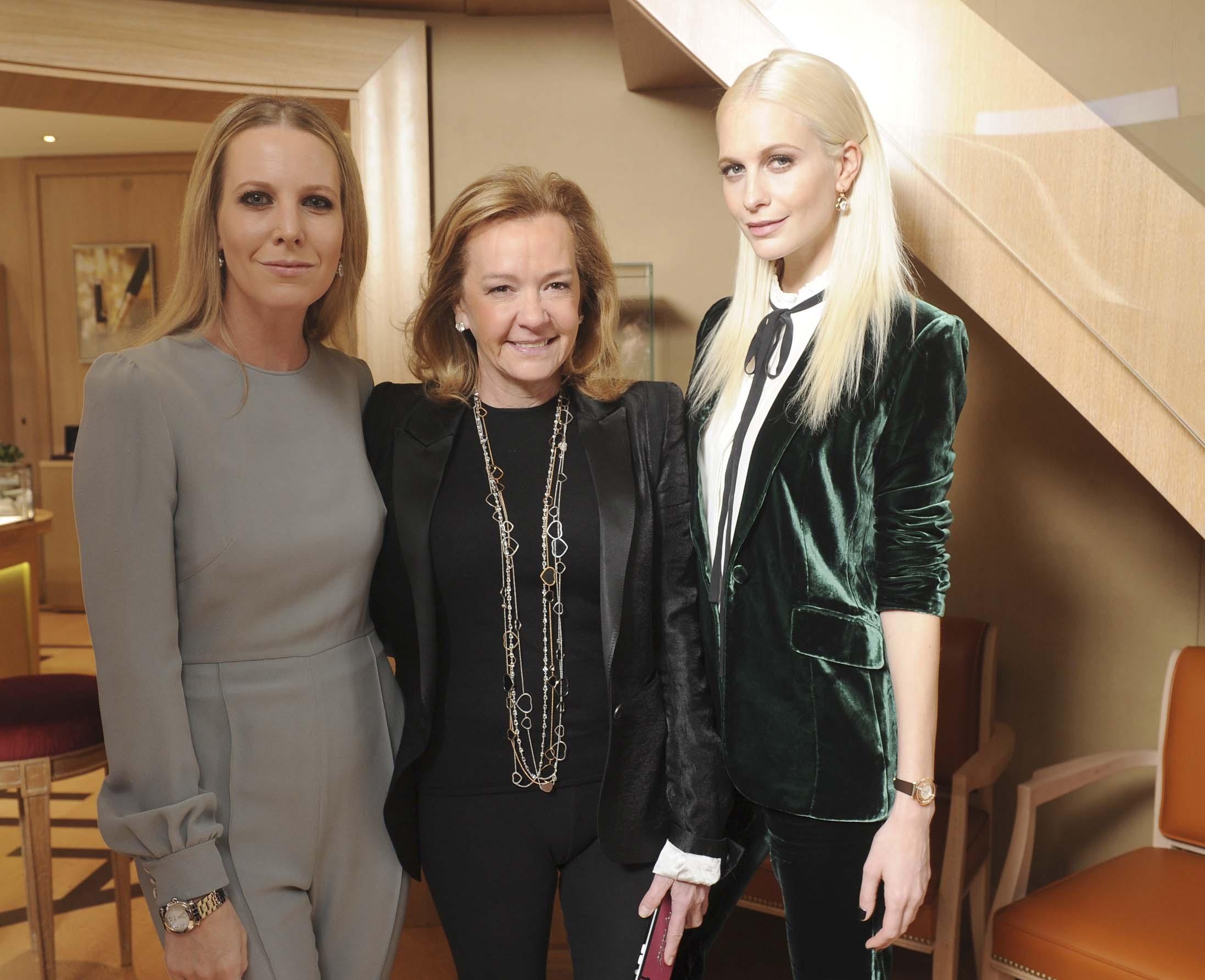 Alice Naylor Leyland、Caroline Scheufele、Poppy Delevingne