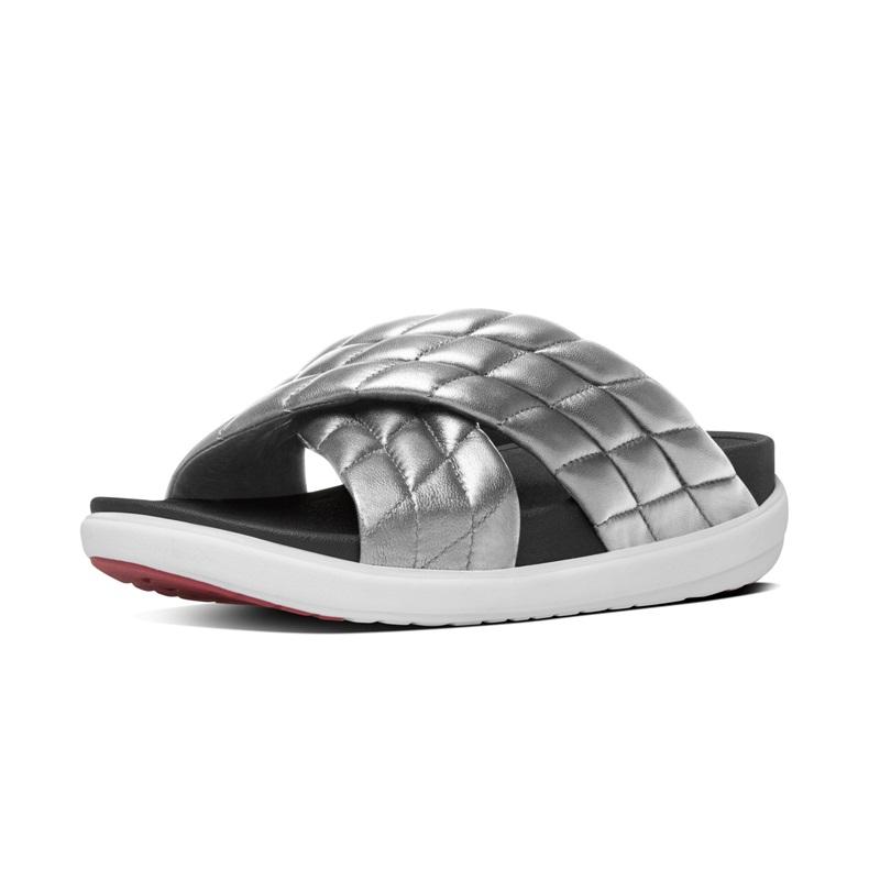 LOOSH™ X SLIDE 運動風雙帶涼鞋 銀色 建議售價5,450元
