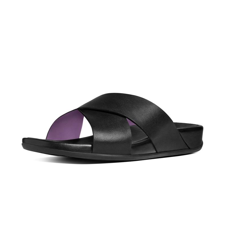 AIX™ SLIDE 交叉雙帶涼鞋 靚黑色 建議售價5,650元