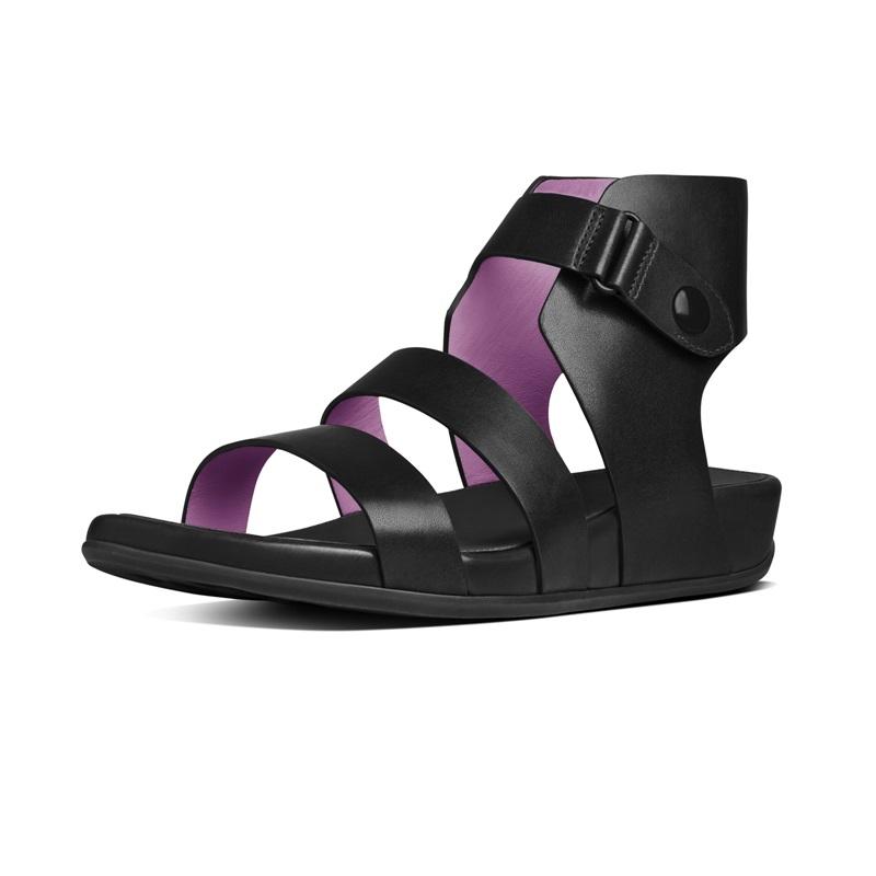 GLADDIE™  三帶式羅馬涼鞋 黑白色 建議售價5,850元