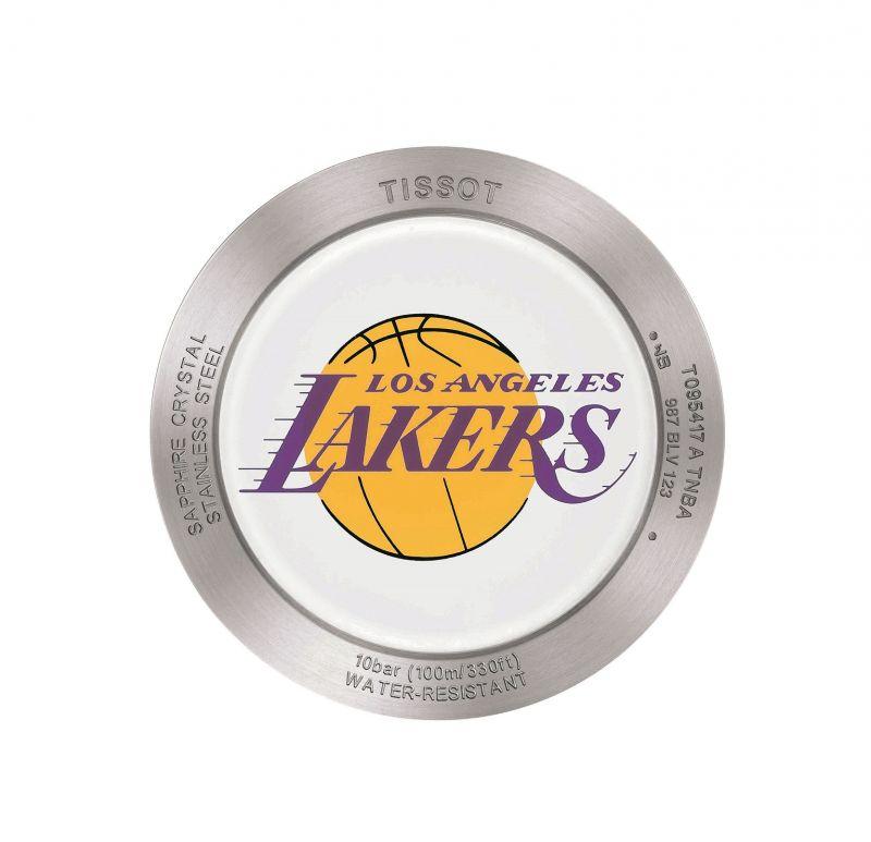 TISSOT Quickster 時捷系列 NBA 特別版腕錶搭載的湖人隊隊徽錶後蓋