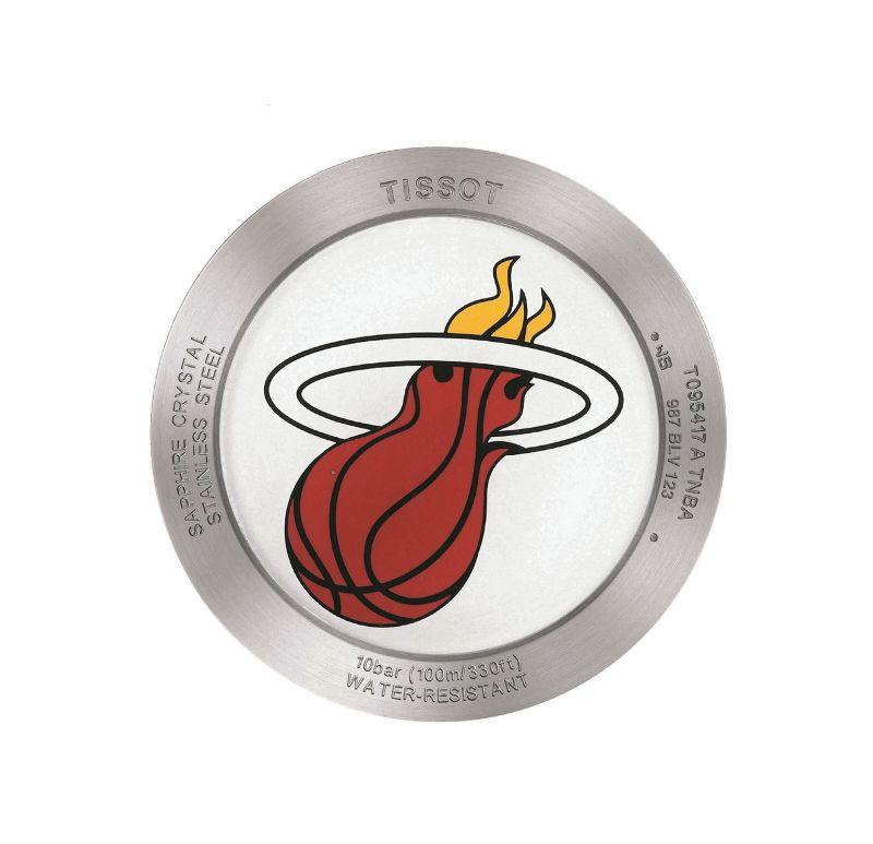 TISSOT Quickster 時捷系列 NBA 特別版腕錶搭載的熱火隊隊徽錶後蓋