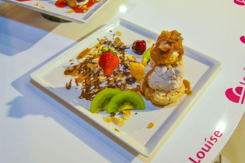 法國MOF冰淇淋甜點品牌Louise 首度引進法式甜點「波菲提」香榭里榭波菲堤:脆皮波菲堤、糖漬栗子冰淇淋、奶油慕斯、栗子