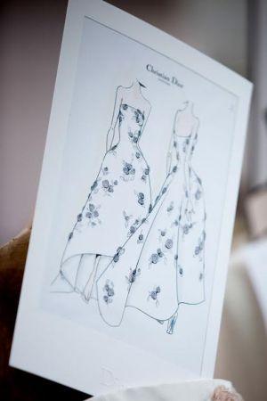 劉亦菲的DIOR訂製禮服草圖