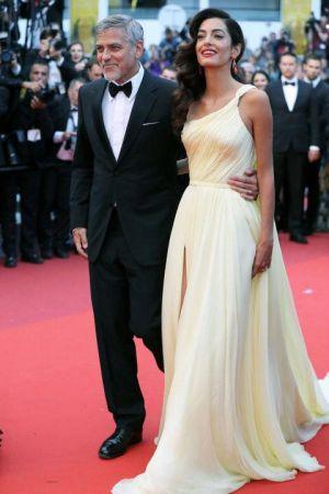 George Clooney和太太Amal Clooney