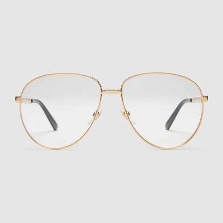 GUCCI 廣告形象款、小S配戴款復古金屬框眼鏡$12,980
