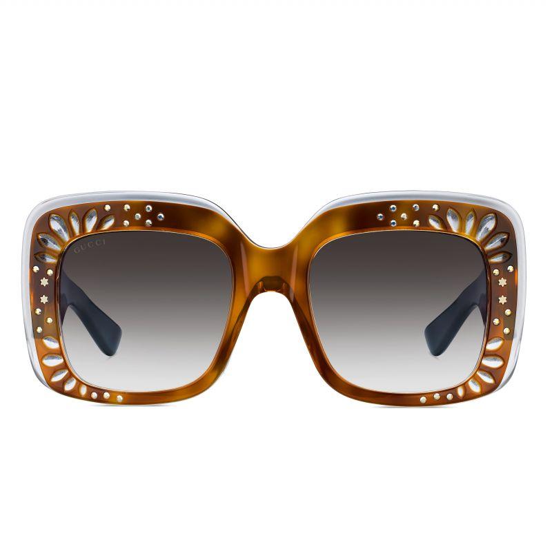 GUCCI 鉚釘裝飾 oversize 復古框墨鏡$17,460