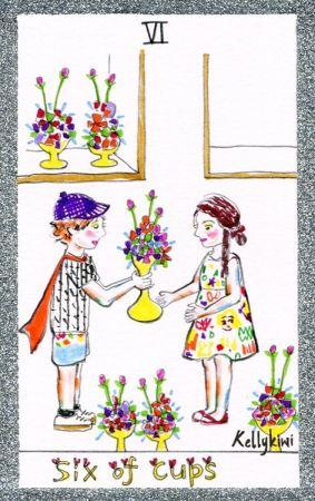 選B者 代表塔羅:聖杯6聖杯6這張牌帶有一種溫暖、和諧的氣氛,你和孩子的相處就像這張圖一般,你會是個待孩子如朋友的媽媽,就算與孩子年齡差距再大,在他面前,你會自動瓦解一切大人的世故、猜忌,與孩子像個兩小無猜的麻吉,從小就這樣自然而然的走進孩子的心。當然其中也不乏與孩子鬥嘴、吵架、哈啦,一邊關心著孩子的教育與成長,另一邊又會和孩子打打鬧鬧,看似平凡,對待孩子,只能用無微不至來形然,你在孩子心中也自然有著不可取代的地位。