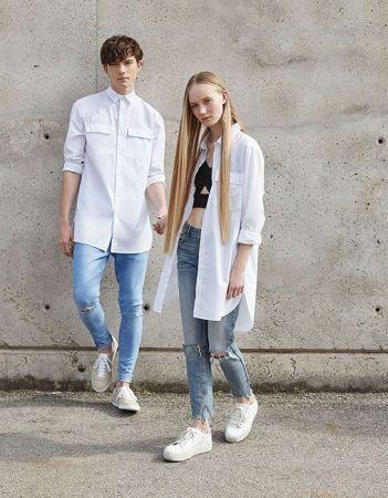 單品6:長版白襯衫男生的長版白襯衫,女孩們就直接拿來當作罩衫穿吧!內搭小背心或短版上衣都很性感