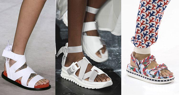 由左至右:Kenzo / Public School / Chanel運動風燒不停是的,這幾季說到涼鞋,運動款一定是許多人的首選,不為什麼,只因為他真的好搭又好走,不論上半身穿什麼,腳上一雙運動涼鞋,就能看起來是個混搭大師。