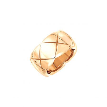 """"""" COCO CRUSH """"戒指_中型款 (新品)18K Beige米色金。建議售價NTD 98,000元"""