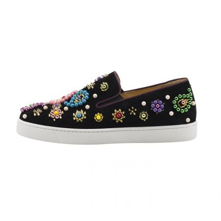 Christian Louboutin Boat Candy Flat Veau Velours GG 1