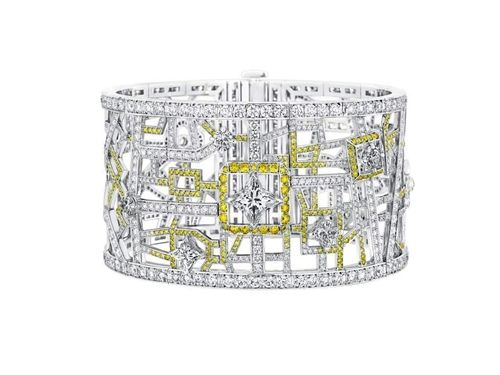 Vendome系列手環,白金,鑽石與黃鑽,Louis Vuitton