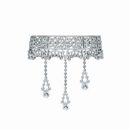Limelight Paris 艾菲爾鐵塔項鍊,白金,鑽石,Piaget