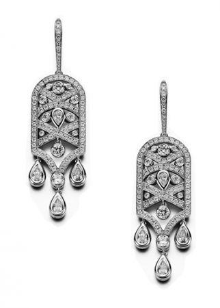 Limelight Paris艾菲爾鐵塔耳環,白金,鑽石,Piaget