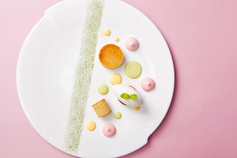 寒舍艾麗【愛 . 瀰漫】七夕情人節饗宴甜點-開心果費南雪