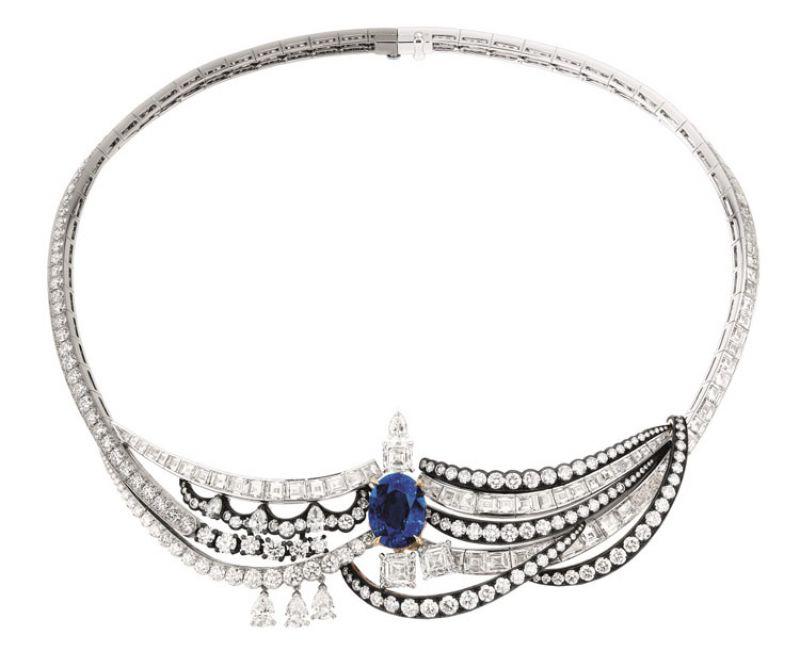 CHAMBRE DU ROI 藍寶石鑽石項鍊