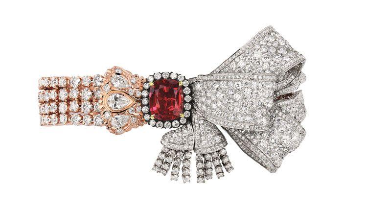 SALON DE MERCURE紅寶石鑽石手鐲
