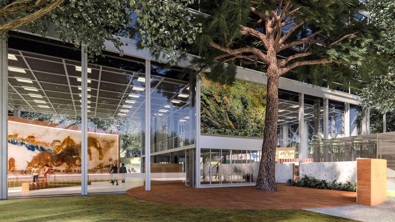 卡地亞當代藝術基金會外觀觀看展覽空間