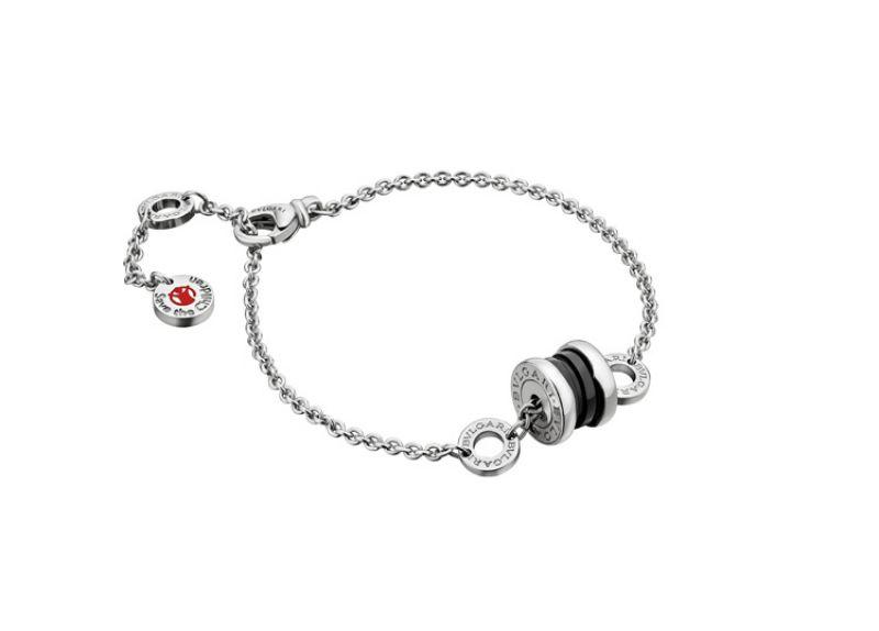 BVGLARI B.zero1 Save The Children 銀質黑陶瓷手環 約NT$18,400