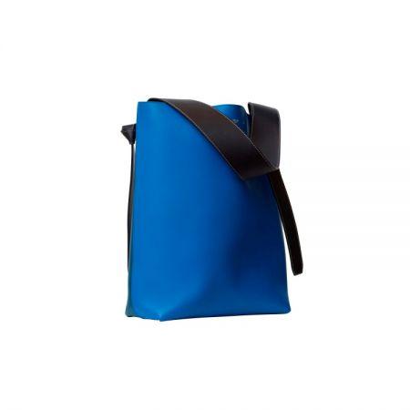 Cabas Twisted藍褐拼接光滑小牛皮肩背提包$68,000