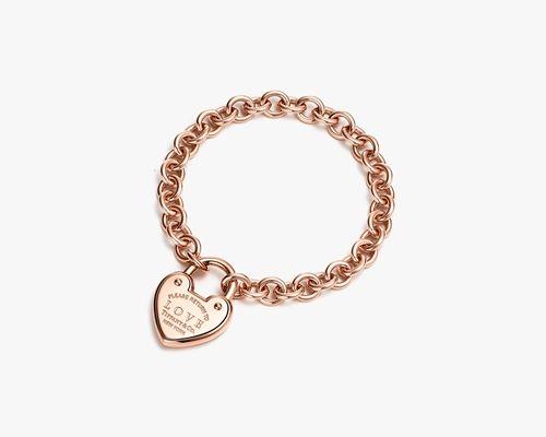 Return to Tiffany Love Lock18K玫瑰金手鍊,NT180,000
