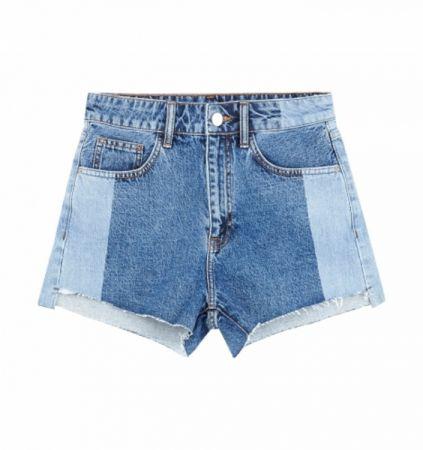 推薦七:拼接牛仔短褲,刷白的設計讓短褲更時髦。