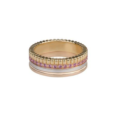 四色金粉紅「剛玉」戒指,Boucheron