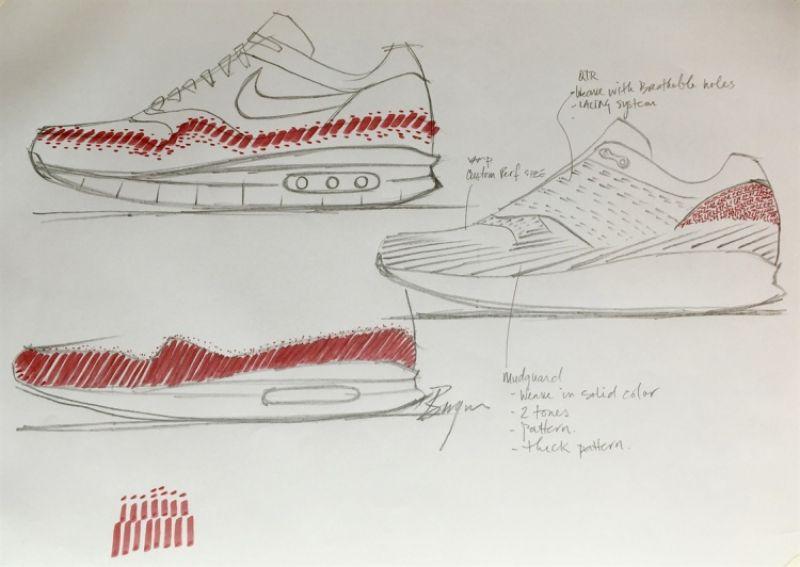 首席設計師Ben Yun提供的草圖
