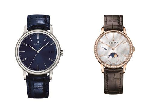 ELITE 6150 機芯腕錶,及以6150為基礎所設計的ELITE LADY MOONPHASE月相腕錶,Zenith