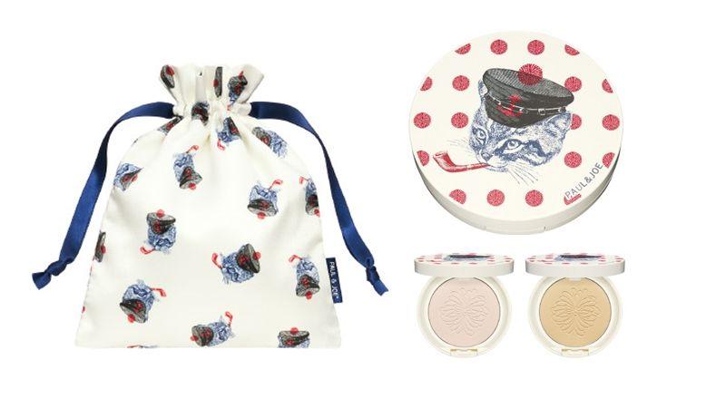 水手貓貓防曬蜜粉餅一共推出001淨透粉、002裸米色兩色,當時組合中還附上束口袋,整組一起出售。NT1,950。