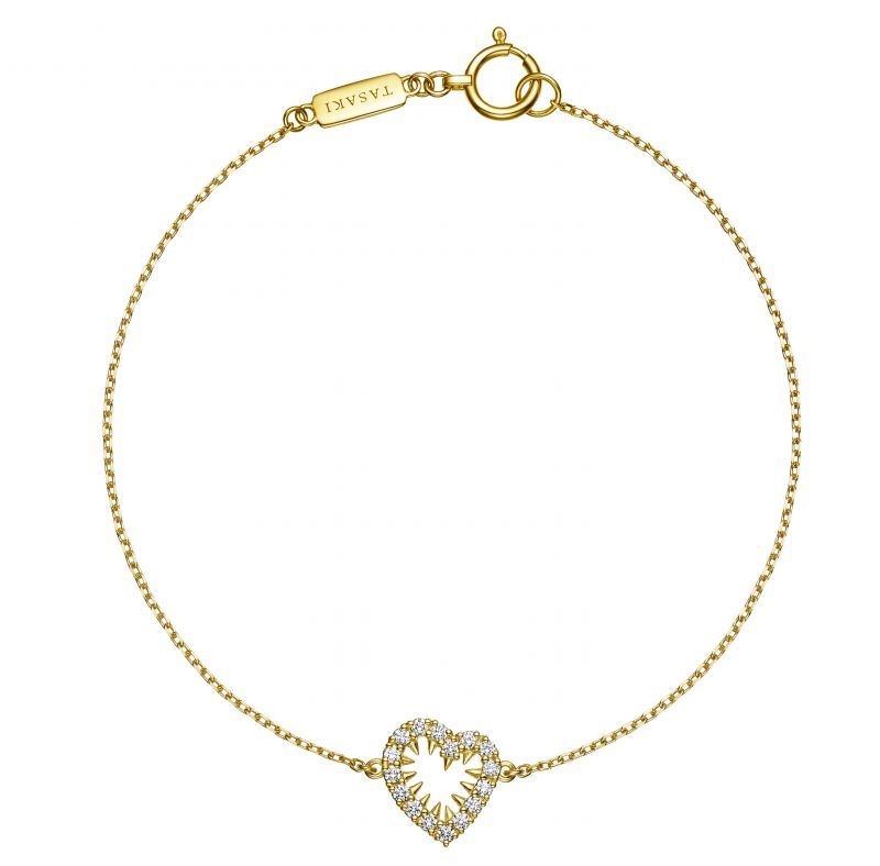 danger heart diamond 鑽石黃K金手鍊,NT54,100,TASAKI