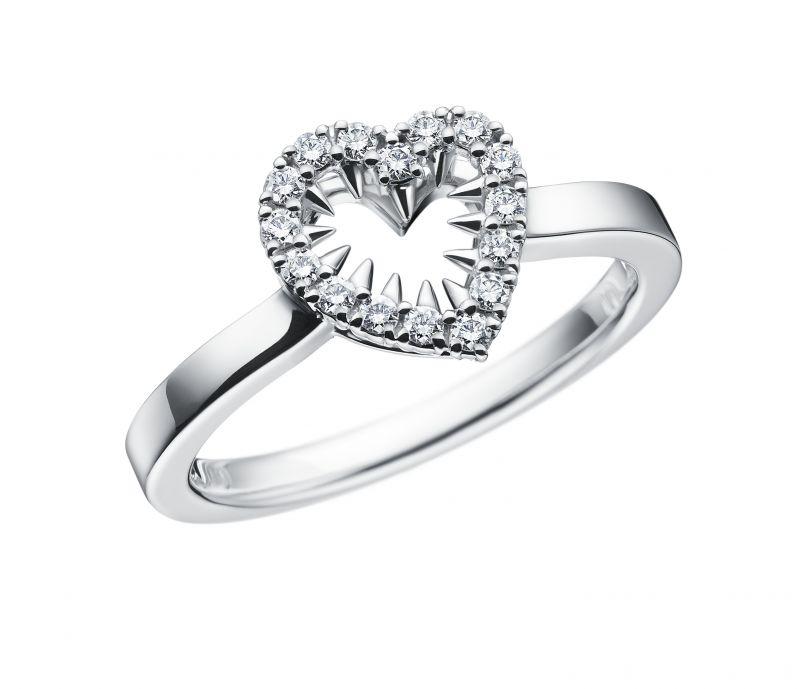 danger heart diamond 鑽石白K金戒指,NT71,000,TASAKI