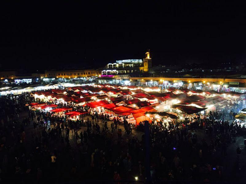 充滿魅力的馬拉喀什夜市