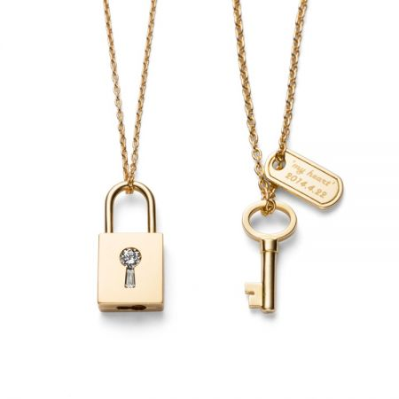 TASAKI lock my heart 黃K金對鍊NT$176,000