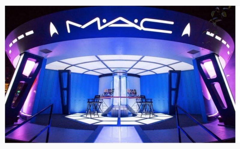 M.A.C更將遨遊宇宙的「企業號」搬進展場