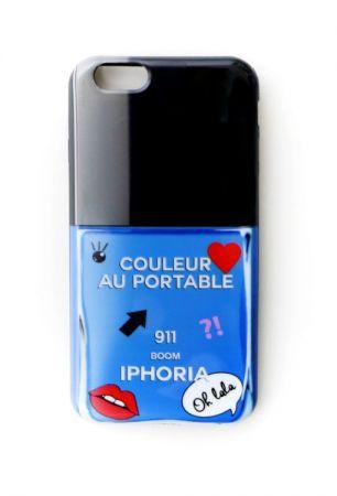 IPHORIA藍色塗鴉指甲油手機殼,NT1,780