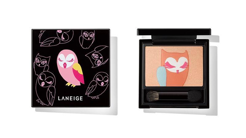 LANEIGE蘭芝x LUCKY CHOUETTE聯名彩妝中最引人注目的眼頰盤。