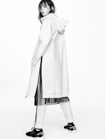 薄紗中長裙NT990