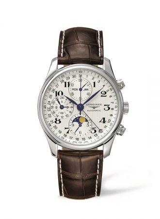 浪琴表巨擘系列全日曆月相計時碼錶 (L2.773.4.78.3),建議售價NT$111,000